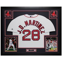 J. D. Martinez Signed 35x43 Custom Framed Jersey Display (Steiner COA)