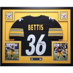 Jerome Bettis Signed 35x43 Custom Framed Jersey Display (JSA COA)
