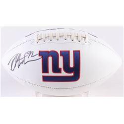 Michael Strahan Signed New York Giants Logo Football (JSA COA)