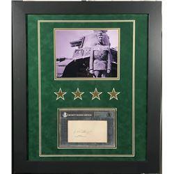 George S. Patton Signed 23x27 Custom Framed Cut Display (BGS Encapsulated)