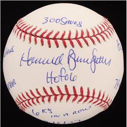 Howard Bruce Sutter Signed OML Baseball with (8) Inscriptions (PSA Hologram)