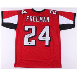 "Devonta Freeman Signed Jersey Inscribed ""Fast  Physical"" (Radtke COA)"