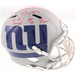 Lawrence Taylor Signed New York Giants Full-Size AMP Alternate Speed Helmet with (3) Career Stat Ins