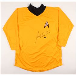 "William Shatner Signed Star Trek ""Captain James T. Kirk"" Prop Replica Uniform Shirt (Radtke COA)"