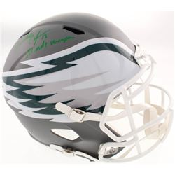 "Randall Cunningham Signed Philadelphia Eagles Full-Size AMP Alternate Speed Helmet Inscribed ""Ultima"