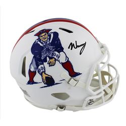N'Keal Harry Signed New England Patriots Full-Size Authentic On-Field Throwback Speed Helmet (Radtke
