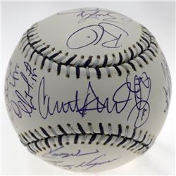 2008 National League All-Star Baseball Team-Signed by (28) with Chipper Jones, David Wright, Aaron C