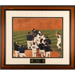1999 New York Yankees World Series Champion Team-Signed 26x29.5 Custom Framed LE Photo Display Signe