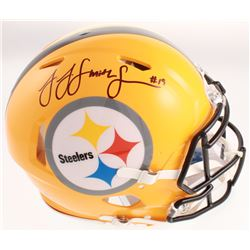 JuJu Smith-Schuster Signed Pittsburgh Steelers Full-Size Authentic On-Field Throwback Speed Helmet (