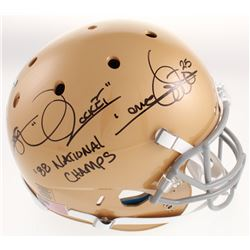 "Raghib ""Rocket"" Ismail Signed Notre Dame Fighting Irish Full-Size Helmet Inscribed ""'88 National Cha"