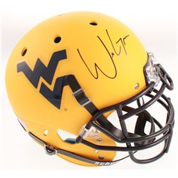 Will Grier Signed West Virginia Mountaineers Full-Size Authentic On-Field Matte Yellow Helmet (Radtk