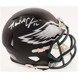 Randall Cunningham Signed Philadelphia Eagles Matte Black Speed Mini Helmet (Beckett COA)