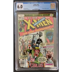 "1978 ""Uncanny X-Men"" #111 Marvel Comic Book (CGC 6.0)"
