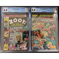 """Lot of (2) CGC Graded Marvel Comic Books with 1976 """"2001: A SPACE ODYSSEY"""" #1 (CGC 6.5)  1975 """"Fanta"""