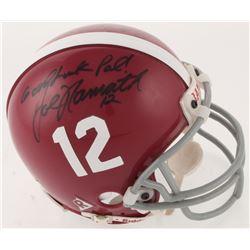 "Joe Namath Twice-Signed Alabama Crimson Tide Mini Helmet Inscribed ""Good Luck Pal!""  ""Roll Tide"" (Be"