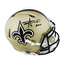 """Alvin Kamara Signed New Orleans Saints Full-Size Authentic On-Field Speed Helmet Inscribed """"AK41"""" (R"""