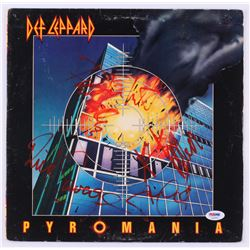 "Def Leppard ""Pyromania"" Vinyl Record Album Band-Signed by (5) with Phil Collen, Rick Allen, Rick Sav"