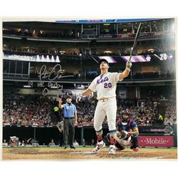 "Pete Alonso Signed New York Mets 16x20 Photo Inscribed ""19 HR Derby Champ"" (MLB Hologram  Fanatics H"