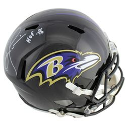 "Ray Lewis Signed Baltimore Ravens Full-Size Speed Helmet Inscribed ""HOF '18"" (Beckett COA)"