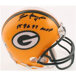 "Brett Favre Signed Green Bay Packers Mini-Helmet Inscribed ""95 96 97 MVP"" (Radtke COA)"