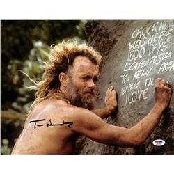 "Tom Hanks Signed ""Cast Away"" 11x14 Photo (PSA COA)"