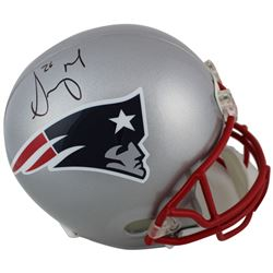 Sony Michel Signed New England Patriots Full-Size Helmet (Beckett COA)