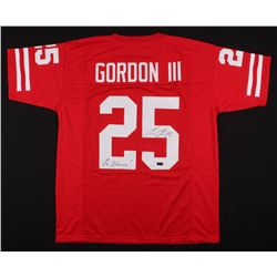 "Melvin Gordon Signed Jersey Inscribed ""On Wisconsin"" (Radtke COA)"