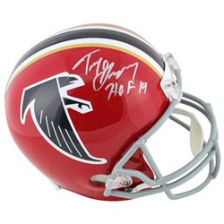 "Tony Gonzalez Signed Atlanta Falcons Throwback Full-Size Helmet Inscribed ""HOF 19"" (Beckett COA)"