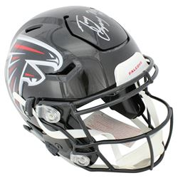 "Tony Gonzalez Signed Atlanta Falcons Full-Size Authentic On-Field SpeedFlex Helmet Inscribed ""HOF 19"