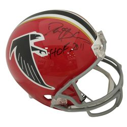 "Deion Sanders Signed Atlanta Falcons Throwback Full-Size Helmet Inscribed ""HOF 2011"" (Beckett COA)"