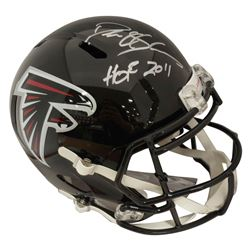 "Deion Sanders Signed Atlanta Falcons Full-Size Speed Helmet Inscribed ""HOF 2011"" (Beckett COA)"