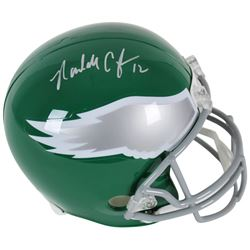 Randall Cunningham Signed Philadelphia Eagles Throwback Full-Size Helmet (Beckett COA)
