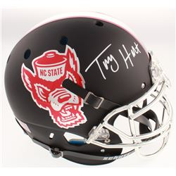 Torry Holt Signed NC State Wolfpack Full-Size Authentic On-Field Matte Black Helmet (Radtke COA)