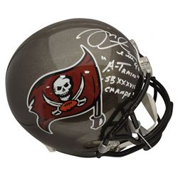 "Mike Alstott Signed Tampa Bay Buccaneers Full-Size Helmet Inscribed ""A-Train""  ""SB XXXVII Champs!"" ("