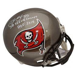 """Derrick Brooks Signed Tampa Bay Buccaneers Full-Size Helmet Inscribed """"HOF 2014""""  """"SB XXXVII Champs"""""""