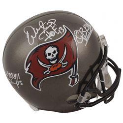 """Warren Sapp Signed Tampa Bay Buccaneers Full-Size Helmet Inscribed """"HOF 13,"""" """"SB XXXVII Champs""""  """"QB"""