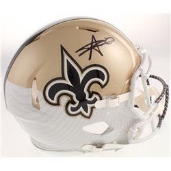 Alvin Kamara Signed New Orleans Saints Full-Size Authentic On-Field Hydro Dipped Speed Helmet (JSA C