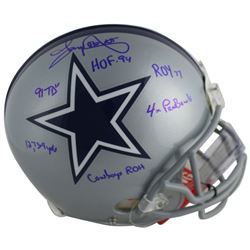 Tony Dorsett Signed Dallas Cowboys Full-Size Authentic On-Field Helmet with Multiple Career Stat Ins