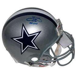 "Emmitt Smith Signed Dallas Cowboys Authentic On-Field Full-Size Helmet Inscribed ""HOF 2010"" (PSA COA"