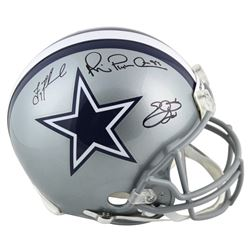 """Troy Aikman, Emmitt Smith  Michael """"Playmaker"""" Irvin Signed Dallas Cowboys Full-Size Authentic On-Fi"""