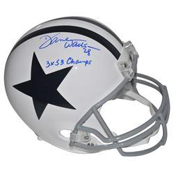 """Darren Woodson Signed Dallas Cowboys Full-Size Helmet Inscribed """"3x SB Champs"""" (Beckett COA)"""