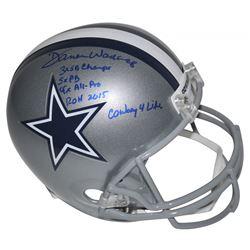 Darren Woodson Signed Dallas Cowboys Full-Size Helmet with Multiple Career Stat Inscriptions (Becket