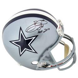 "Emmitt Smith Signed Dallas Cowboys Full-Size Helmet Inscribed ""HOF 2010"" (PSA COA)"