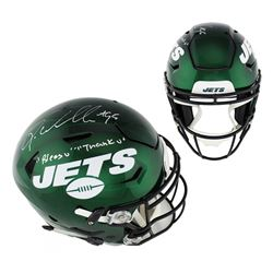 """Quinnen Williams Signed New York Jets Full-Size Authentic On-Field SpeedFlex Helmet Inscribed """" Bles"""
