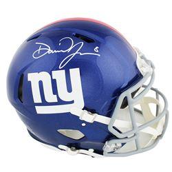 Daniel Jones Signed New York Giants Full-Size Authentic On-Field Speed Helmet (Radtke COA)