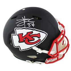 Travis Kelce Signed Kansas City Chiefs Full-Size Authentic On-Field Matte Black Speed Helmet (Radtke