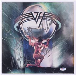 """Van Halen """"5150"""" Vinyl Record Album Cover Band-Signed by (4) with Eddie Van Halen, Alex Van Halen, S"""