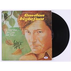 """Gordon Lightfoot Signed """"The First Time Ever I Saw Your Face"""" Vinyl Record Album (PSA COA)"""