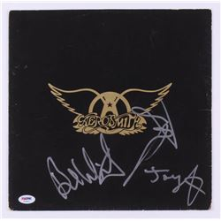 "Tom Hamilton, Joey Kramer  Brad Whitford Signed ""Aerosmith"" Vinyl Record Album Cover (PSA Hologram)"