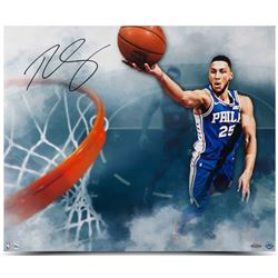 "Ben Simmons Signed Philadelphia 76ers ""Above The Clouds"" 20x24 Photo (UDA COA)"